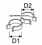 Držák hadice a kabelu d22-24 / d22-24 (sada 5 ks)