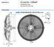 EBM PAPST ventilátor sací 800 mm 400V 6 pólový S6D800-AD01-01